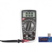 Digitális multiméter, mérőműszer VC130-1 + USB teljesítmény mérő PM-37