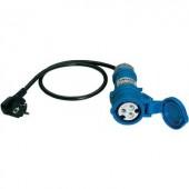 Mérőadapter, mérőkábel 1 fázisú fogyasztókhoz (földelt dugó - CEE aljzat) Benning 16 A CEE 044143