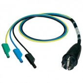 Mérőadapter, mérőkábel 1 fázisú fogyasztókhoz (földelt dugó - 3x4 mm-es banándugó) Benning 044140