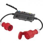 Árammérő adapter, mérésadapter lakatfogókhoz, banándugós csatlakozással, CEE csatlakozókkal 16A-ig Voltcraft DLA-3L 16
