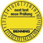 Ellenőrző címkék készülék bevizsgálókhoz, 300 db, 30 mm, Benning 756212
