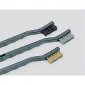 Kefekészlet 3 részes, kefe típus: réz, acél és nylon, kefe méret: 35 mm